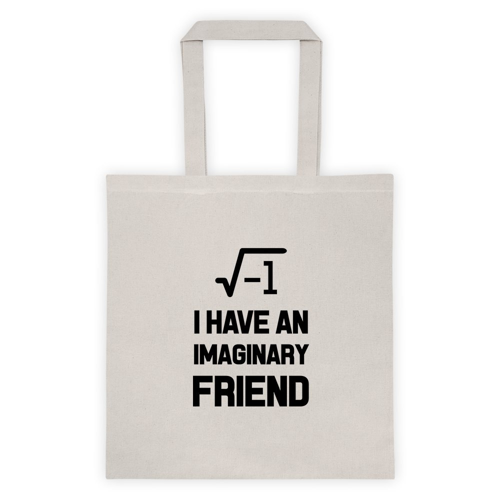 37054a5e476 Amazon.com  I Have An Imaginary Friend Epic Maths School College Geek Cool  Funny Message Outdoor Humor Grocery Shopping Green Tote Bag  Kitchen    Dining