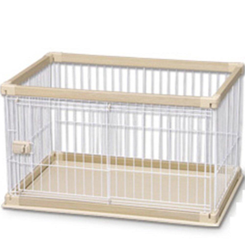 長方形の犬ケージ,折り畳み式の金属製犬箱犬ケージ犬大型犬犬のフェンスの木箱(ホワイト)-シングルドア 97.5x66.5x55.5cm(38x26x22inch) B07D1LGH1N