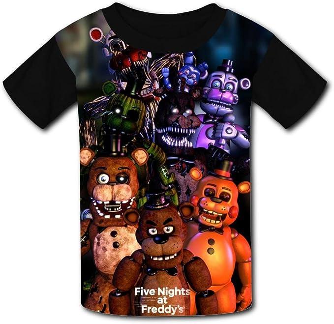 Womens Shirts Five-Night-at-Freddy Womens Short Sleeve T-Shirts Girls Tee Shirt Summer Tops