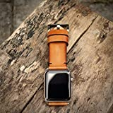 Custom 22mm Handmade Premium Calf Leather Watch Band Gunny Straps - 2010 Serie