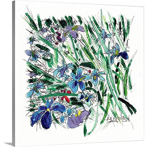 Gallery-Wrapped Canvas Entitled Blue Iris in The Garden by Randy Riccoboni 30