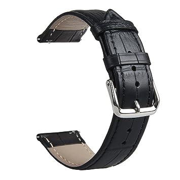 Qomomont Pulsera Correa Reloj 22mm Cuero Compatible para ...