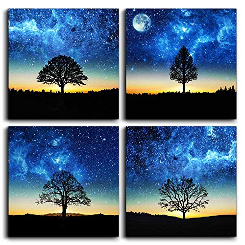 Wall Art for living room Canvas Prints bathroom Wall Decor for bedroom kitchen artwork blue sky Black and white landscape painting 12