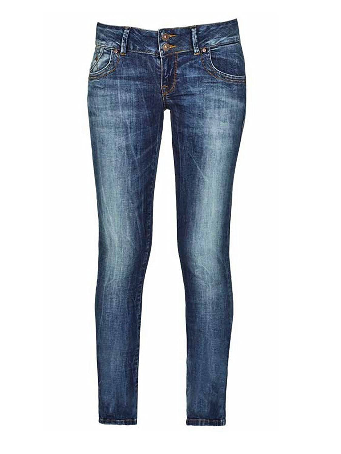 LTB Damen Jeans Molly Slim Fit - Blau - Erwina Wash