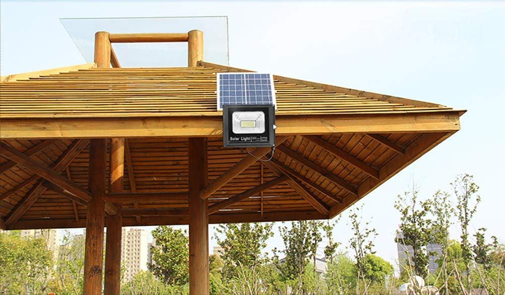 Luz Solar Led para Exterior, Foco Solar Jardín 30W, Lámpara Solar 40 LED de Súper Brillantes, con Control Remoto, IP67 a Prueba de Agua, Indicador Inteligente de batería, Iluminación Blanca Fría: Amazon.es: