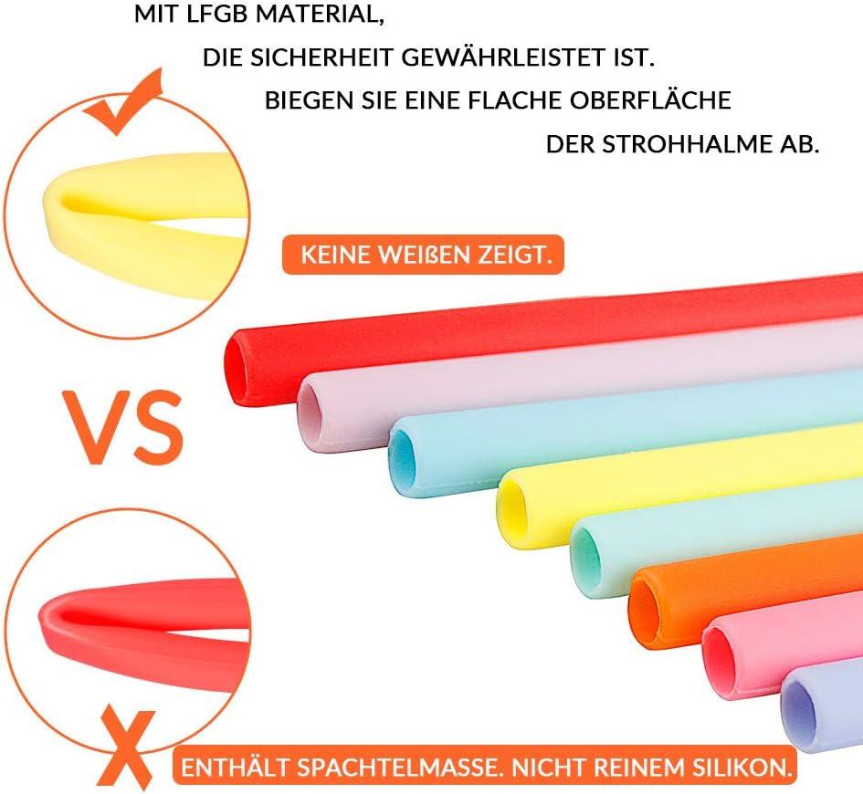11er Set Strohalm wiederverwendbar 4,6 mm Idea F/ür Smoothie Milchshake