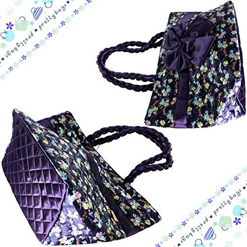 Exklusiv ptb052- multidestination Handtasche Freizeit-N & # X153; UD zu zwei Schleifen Umhängetasche Outdoor Blumen Drucken in Leinwand komfortabel für Damen/Mädchen (violett)