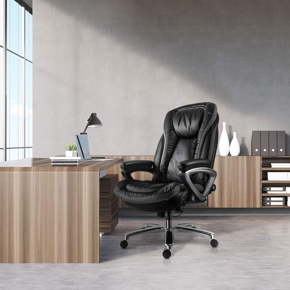 Smugdesk 6813A9 Ergonomic Office Chair LARGE Black