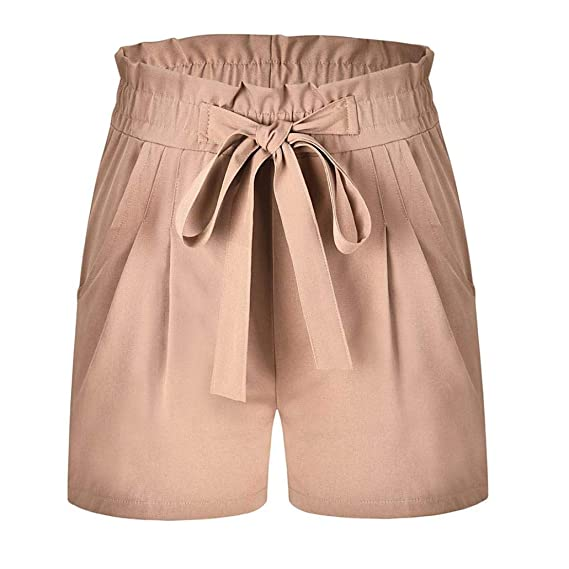 Pantalones Mujer, ASHOP Sólido Pantalones Cortos Anchos ...
