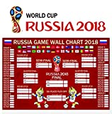 #6: 90shine Russia World Cup 2018 Stickers - Wall Chart Poster/Football Tournament Schedule/Soccer Calendar Bar/Party Decorations