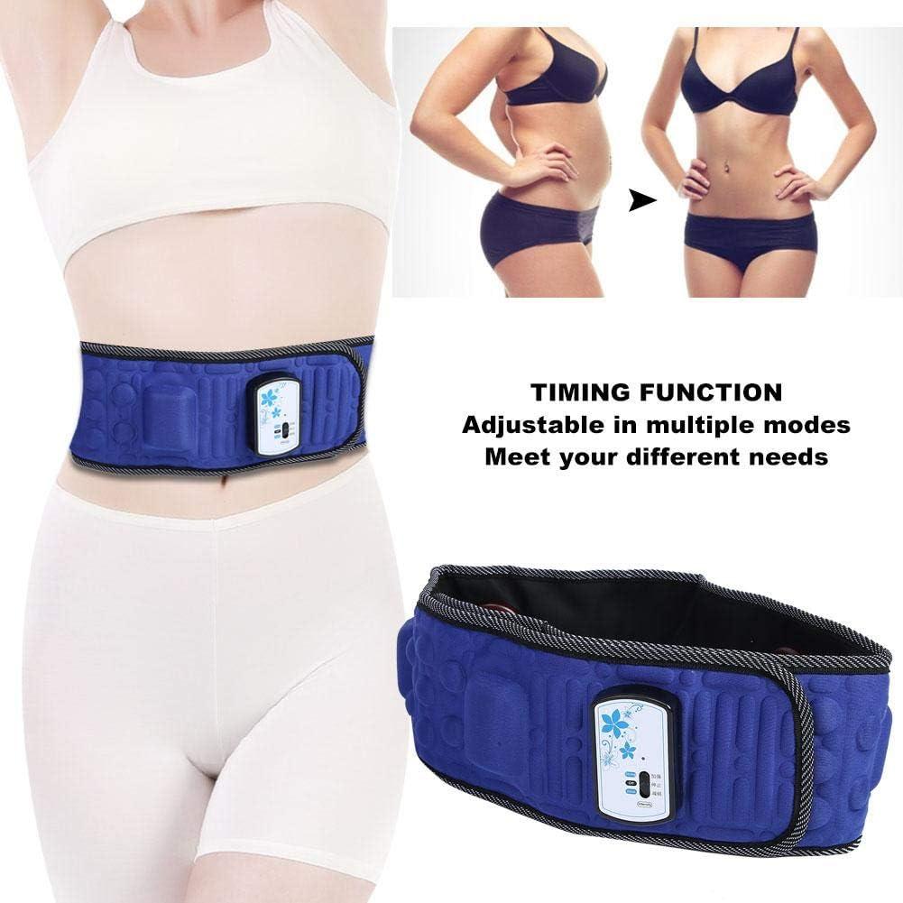 UK Plug Body Shaping Vibration Massage Waist Slimming Belt with 2 Adjustable Massage Modes Belly Fat Burner Electric Weight Loss Machine for Women Slimming Belt