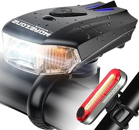 MOREZONE luz para Bicicleta Faro USB Recargable Inteligente LED ...