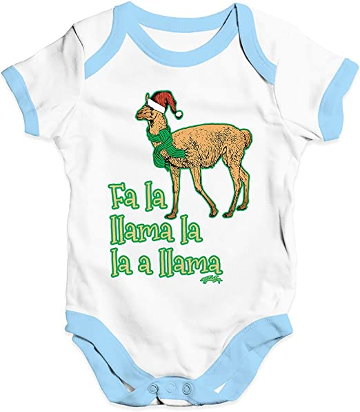 Twisted Envy Fa La Llama Christmas Baby Unisex Funny Baby Grow Bodysuit