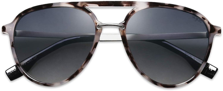 SOJOS Oversized Polarized Sunglasses for Women Men Aviator Ladies Shades Big Frame SJ2078