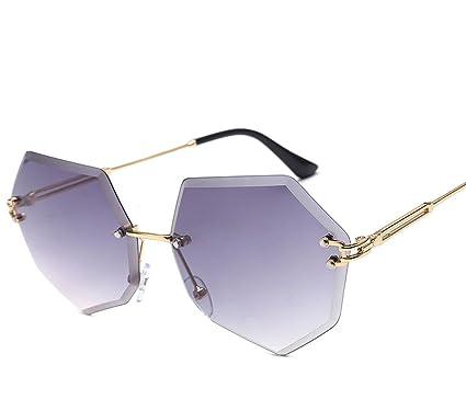 c33cea0893 Ocean Sunglasses Glasses Cut Edge Sunglasses Ms. Frameless Metal Sunglasses
