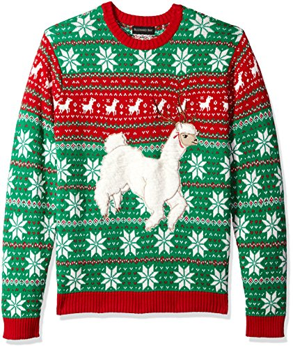 Animal Themed Ugly Christmas Sweater, Festive Alpaca