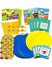 Adventure Time Party Supplies Ultimate Set - Adventure Time Birthday Party Decorations, Party Favors, Plates, Napkins and More