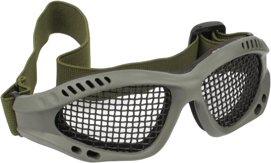 GES Tactical Militar gafas de malla de metal de disparo de gafas de caza de protección para Airsoft Tactical Half Face Mask