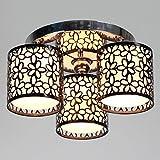 Cheap Lightinthebox Modern 3 Light Flush Mount Creative Painting Metal Ceiling Light Fixture Chandeliers for Kitchen (Black)
