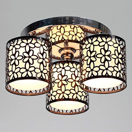 (Lightinthebox Modern 3 Light Flush Mount Creative Painting Metal Ceiling Light Fixture Chandeliers for Kitchen (Black))