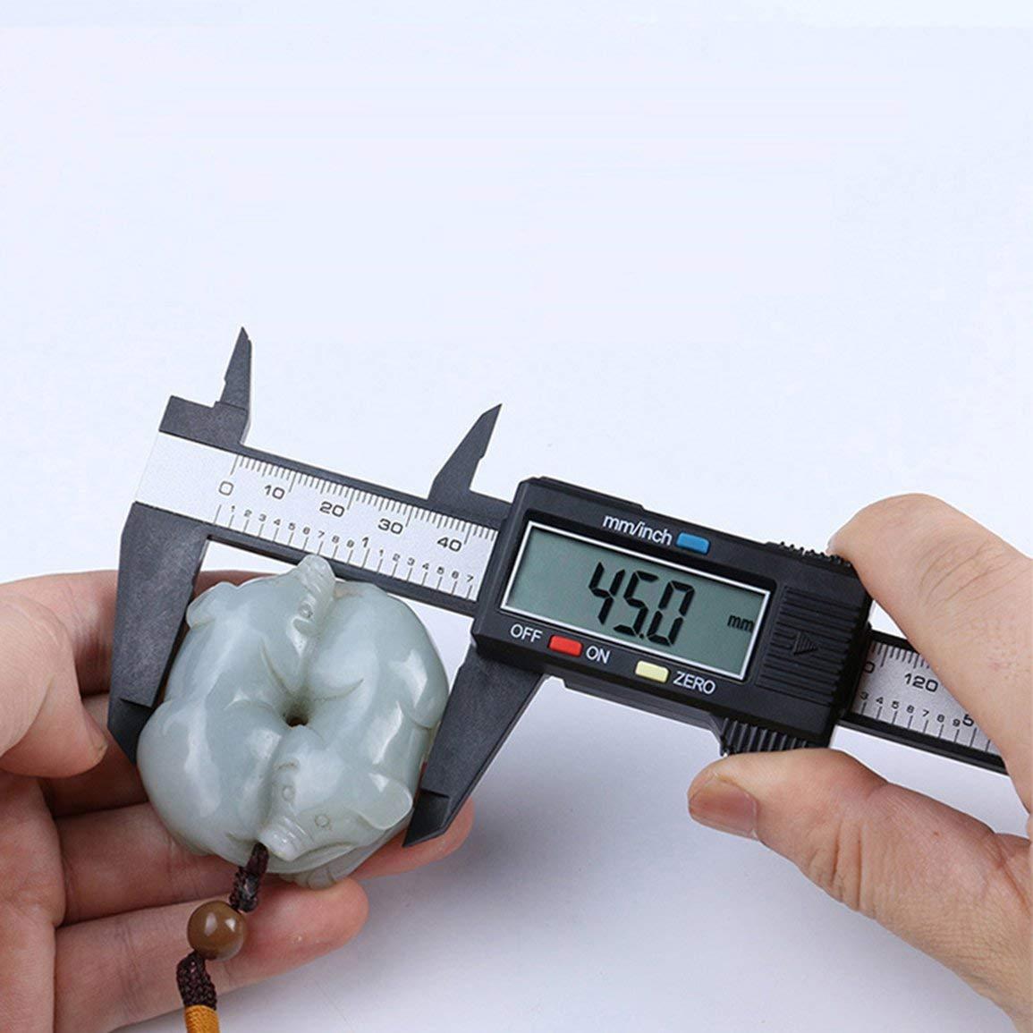 Color:Black/&White Garciakia Electronic Digital Display Vernier Caliper 0-150Mm 0-100Mm Plastic Caliper Measurement Tool Inner Diameter Outer Diameter
