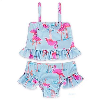 Lamuusaa Toddler Baby Kid Girls Doughnut Swimsuit Sleeveless One-Piece Swimwear Bathing Suit Bikini Tankini 1-6Y