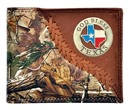 Custom Checkbook Bless Long Brown Texas Realtree Badger Camo God Wallet AP HqTr6H