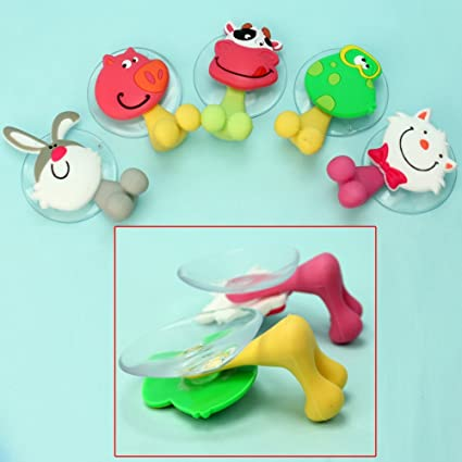 Amazon.com: ReFaXi 5 Pcs Cartoon Animal Toothbrush Holder Suction Sucker Cup Family Bathroom Bath: Home & Kitchen
