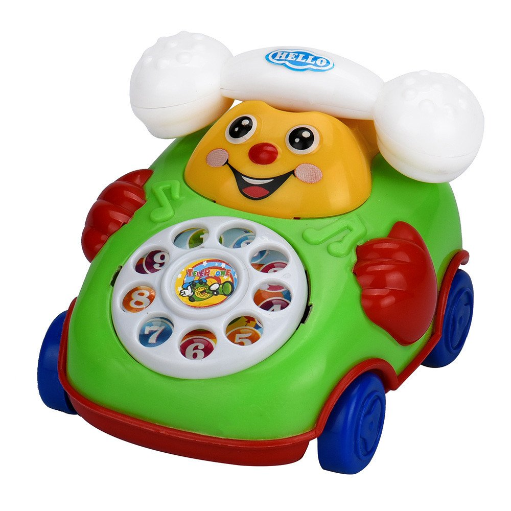 Wenini Telephone Car Top Chain Car Educational Toys - Cartoon Smile Phone Car Developmental Kids Toy Gift for Ages 3 Years Over (Random) by Wenini (Image #4)