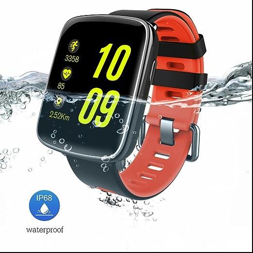 Reloj Inteligente IP68 Impermeable Monitor de Ritmo Cardíaco Reloj Deportivo Mensaje Recordatorio de Llamada Bluetooth 4.0 relojes inteligentes: Amazon.es: ...