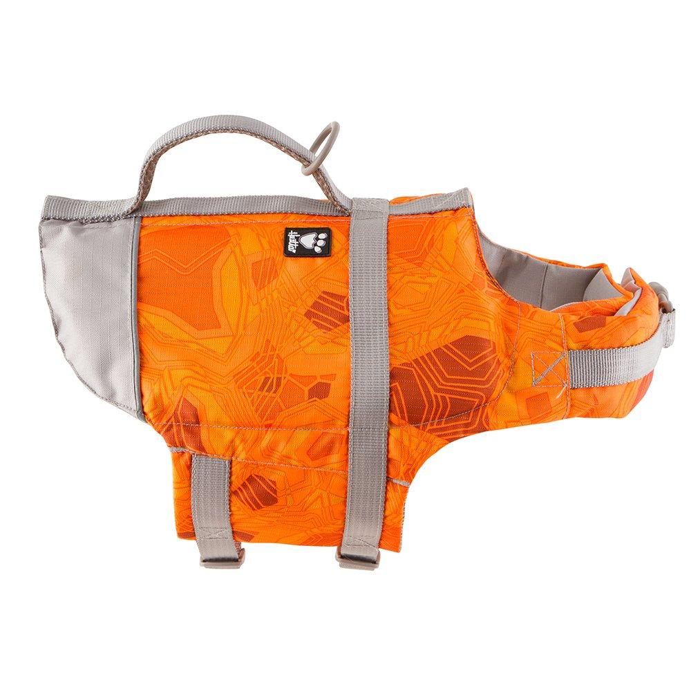 Hurtta Life Savior, Dog Life Vest/Jacket, Orange Camo, 80-160 lbs