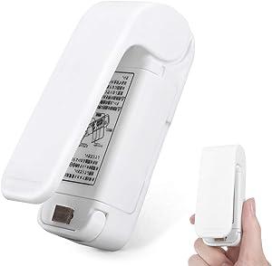 Mini Bag Sealer, SUNMCCN Handheld Heat Vacuum Sealer, Portable Bag Resealer, Sealing Machine for Plastic Bags Food Storage Snacks Freshness