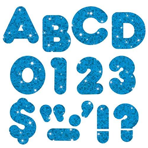 """Trend Enterprises Blue Sparkle 4"""" Casual Ready Letters, 72/pkg (T-1617) -  T1617"""