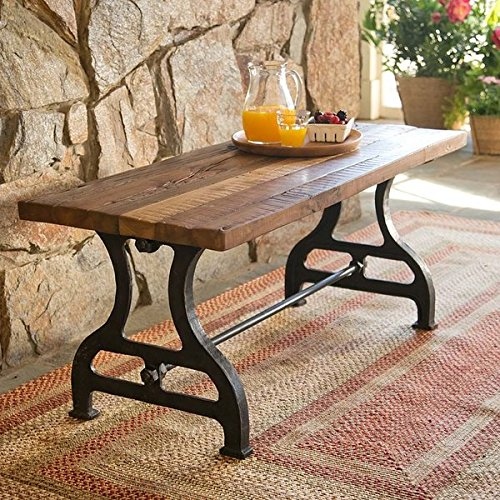 Reclaimed Wood/Iron Garden Bench UV and Rust Resistant Handmade from Reclaimed Wood Crafted from Shorea Wood Railroad Ties - Reclaimed Ties