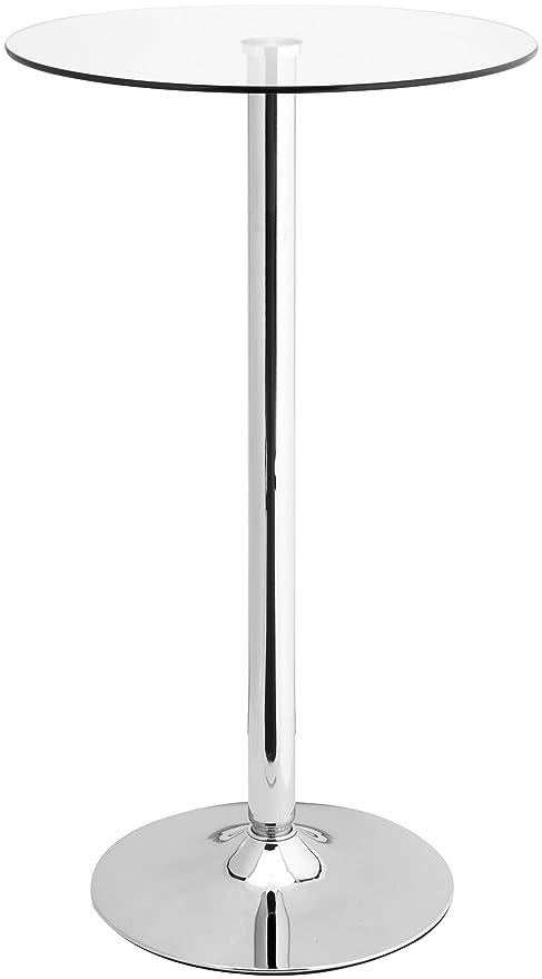Stehtisch Rund Glas.Amstyle Stehtisch Altona Bistrotisch Runde Sicherheitsglasplatte Farbe Silber Glas Bartisch Quadratisch Design Rund Glasplatte Quadrat Platte Drehbar