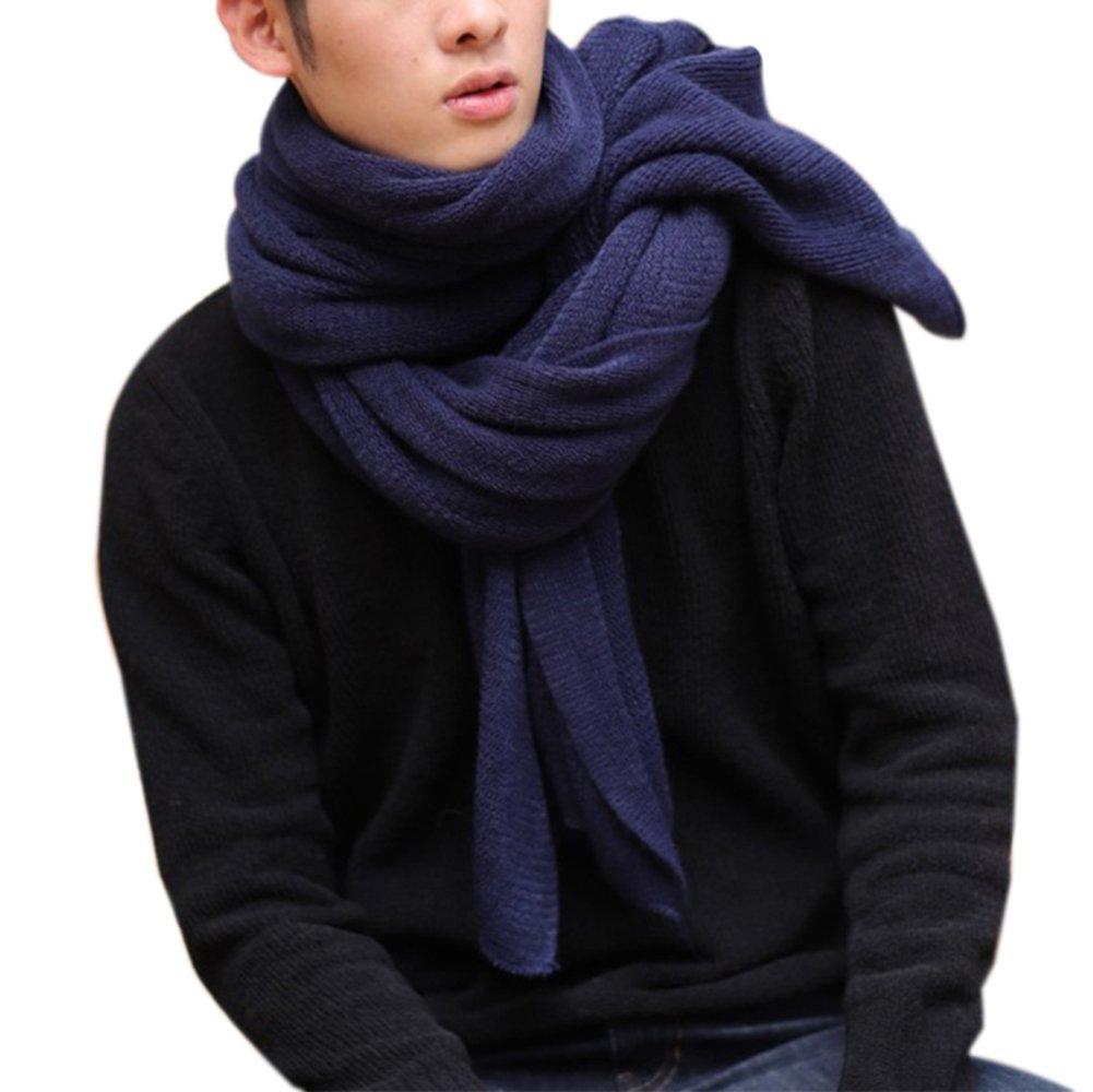 Hosaire 1X Bufanda Fulares Estilo de Color Só lido Bufanda de Abrigo de Invierno con Cuello Grueso y Bufanda para Mujer y Hombre Bufanda de Cuello, Mejor Regalo (Gris)