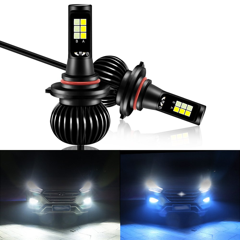 40w Set Mesllin Dual Color Led Front Fog Lights For Cars 3030 Smd Spark Wiring 1994 Volvo 5200lms Daytime Running Driving Lamp Bulbs White Ice Blue 6000k 8000k 9005hb3