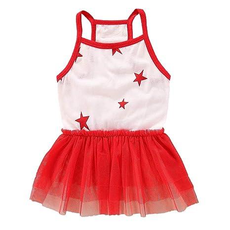 Handfly Vestido de niña de Perro pequeño Vestido de Princesa de ...