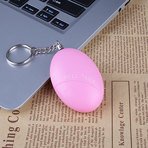Merssavo Anti Lost Safety Alarm Personal Protection Security Alarm 120db Loud with Keychain for Girl& Child, Pink kl-1hoq-c0jb
