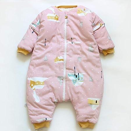 Cómodo Saco de Dormir para bebé,Saco de Dormir cálido para niños, Mameluco siamés de algodón y Manga Larga para bebé, Rosa C_L,Saco de Dormir para Bebé Suave y Ligero: Amazon.es: Hogar