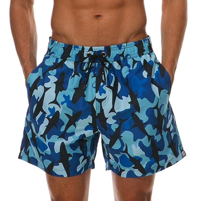 Hibote Pantalones cortos de playa para hombres de secado rápido Pantalones cortos de natación con estampado de piña a prueba de agua Traje… rdaWscx