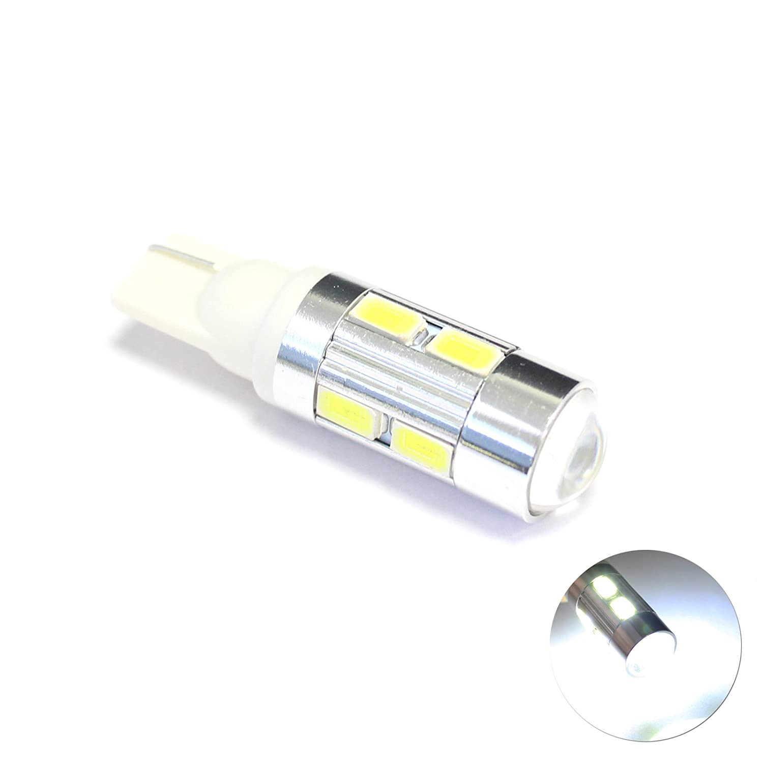 Licence Plate Light Bulb Upgrade 1x White 1-SMD LED Projector Lens Number