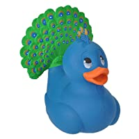 Wild Republic Rubber Ducks, Bath Toys, Kids Gifts, Pool Toys, Water Toys, Peacock...