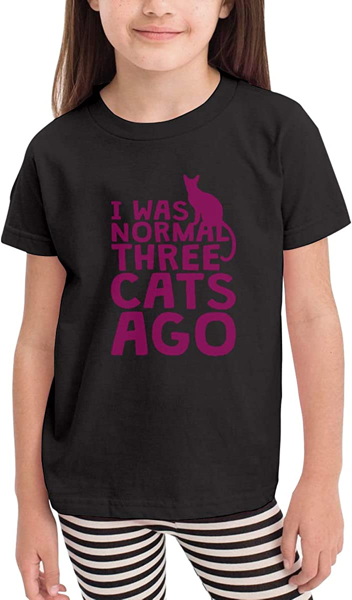 I was Normal Three Cats Ago Pink Short-Sleeve T Shirts for 2-6T Boys