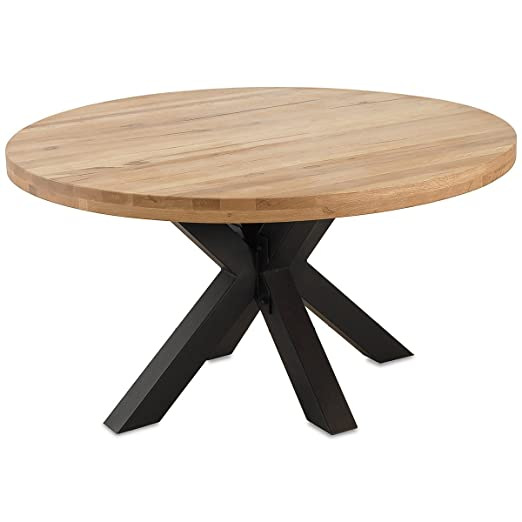 MÖBEL IDEAL Comedor Roble Madera Maciza Natural barnizada Mesa ...