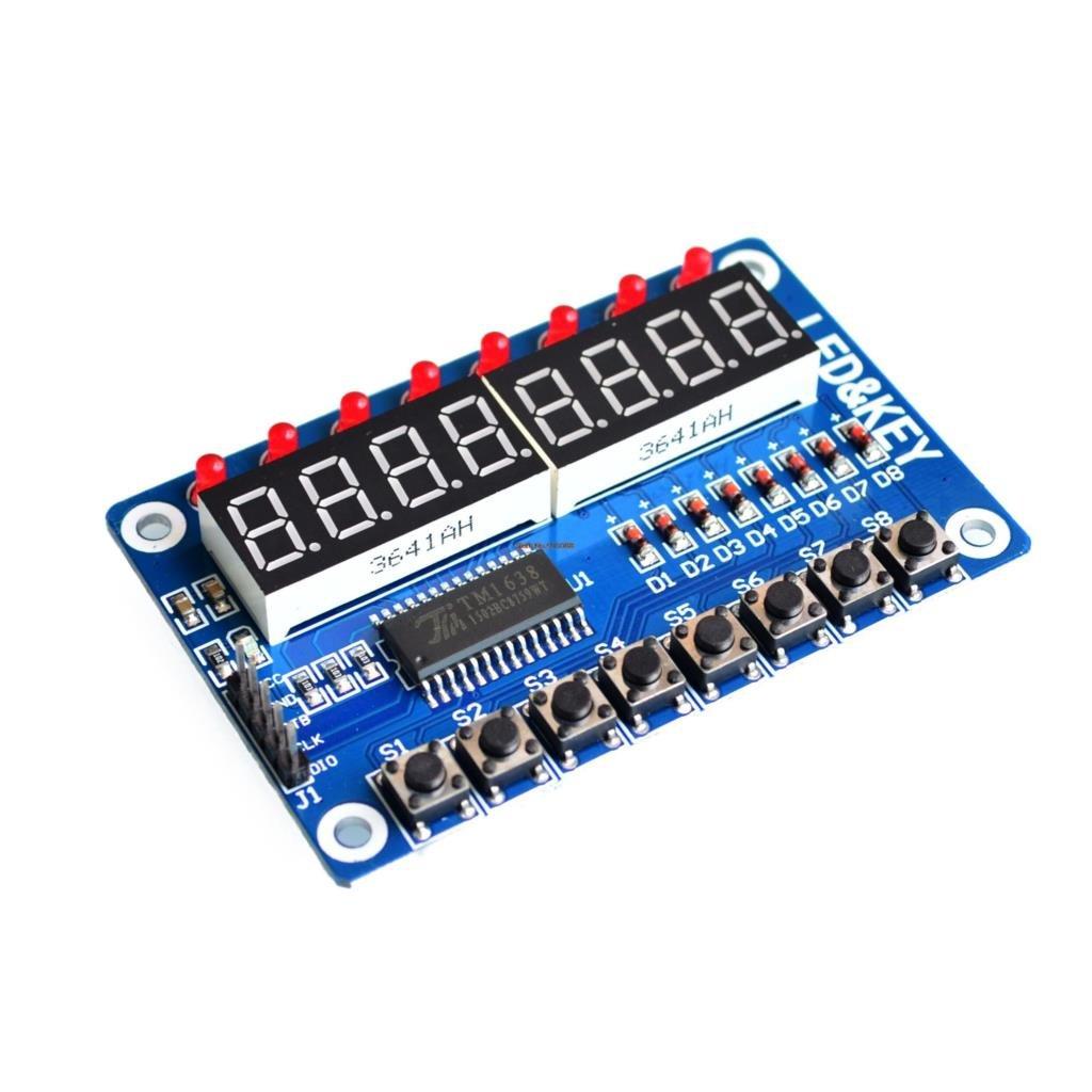 8-Bit LED 8-Bit Digital Tube 8 KeyS TM1638 Display Module For AVR Arduino ARM UE