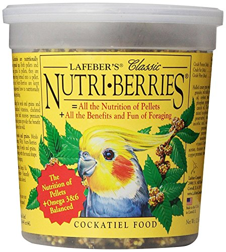 Cockatiel Berry - Lafeber's Classic Nutri-Berries for Cockatiels 12.5 oz. Tub