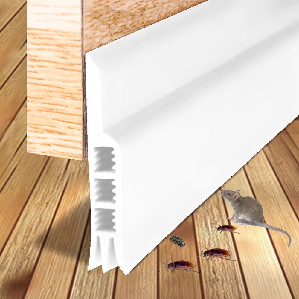 Fish&Fairy Door Sweep Draft Stopper Door Under Seal Strip Noise Rodent Soundproofing Doorsweep Weather Stripping 2'' W x 36'' L