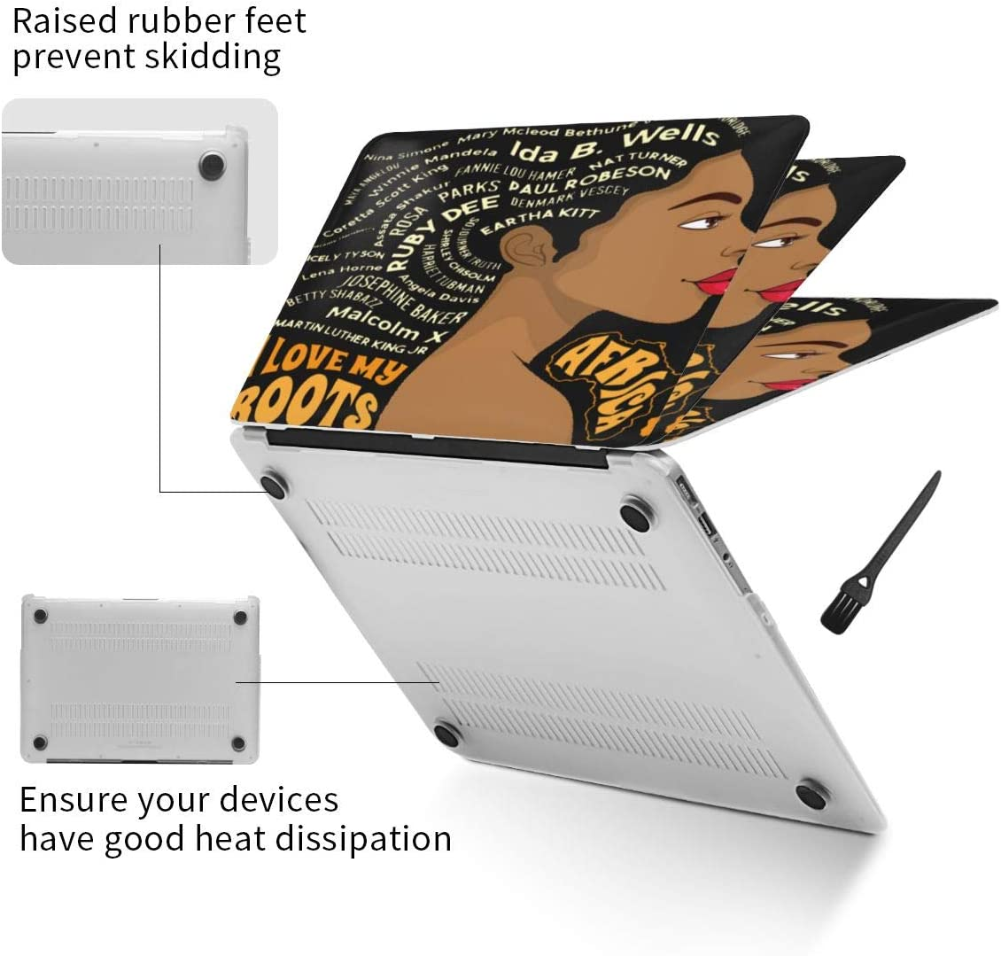 New Air13 // Air13 // Pro13 // Pro15 Laptop Case for MacBook Black Girl African American Black History Laptop Computer Hard Shell Cases Cover
