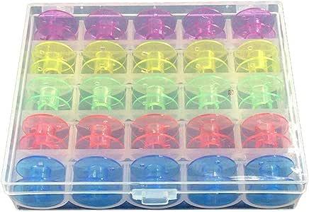 Surenhap - Estuche Organizador con 25 bobinas para máquina de Coser y Hilo de Coser de Colores Surtidos para Brother Babylock Janome Kenmore Singer: Amazon.es: Hogar